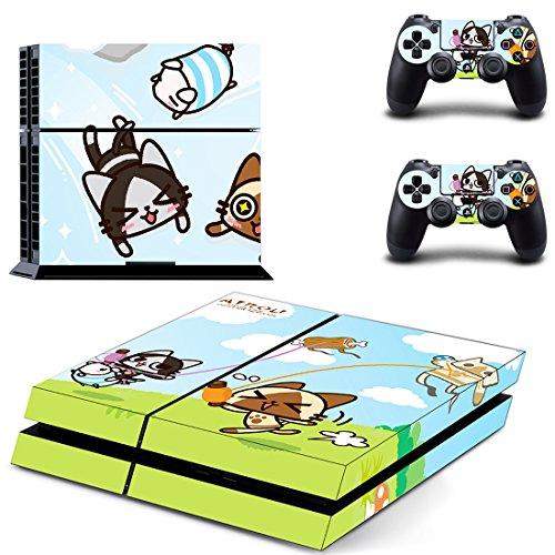 qKonsole PS4 Skin Cute Anime Designfolie Sticker Playstation 4 Vinyl Schutzfolie - Matt