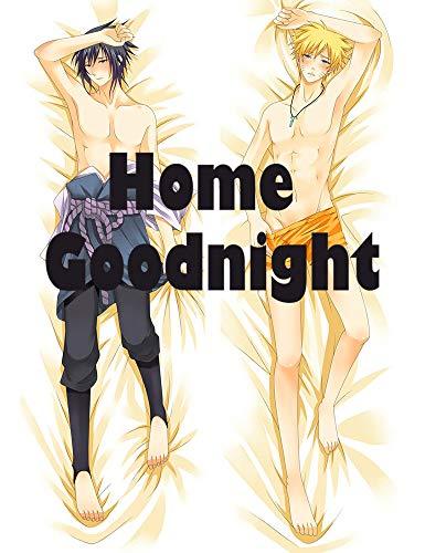 Home Goodnight Naruto and Sasuke - Naruto Male 160 x 50cm(62.9in x 19.6in) Peach Skin Kissenbezug