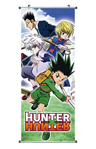 Hunter x Rollbild Kakemono aus Stoff Poster 100x40cm Motiv: Gon, Kurapika & Killua