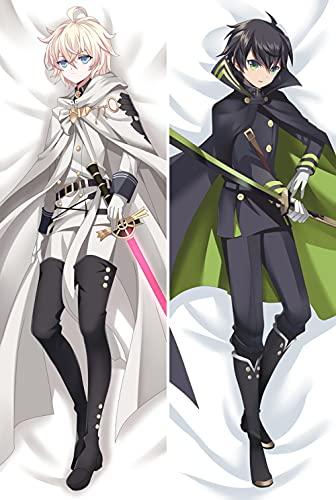 Seraph des Endes Owari No Yuichiro Hyakuya & Mikaela Anime Drucken Zier150x50cm(59 Zoll x 19.6 Zoll)